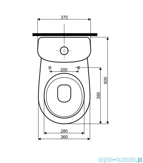 Koło Nova Top Pico Spłuczka ceramiczna z wbudowaną armaturą przycisk chrom 64011000