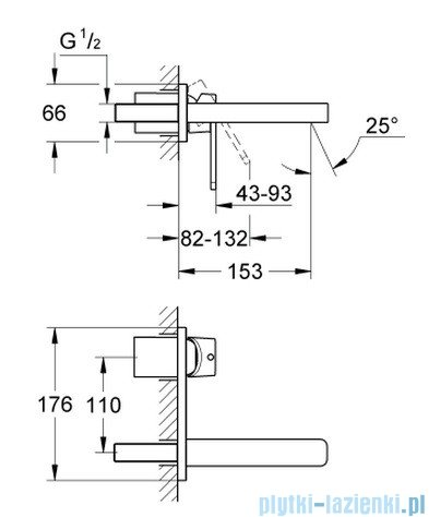 Grohe Quadra 2-otworowa bateria umywalkowa 19479000