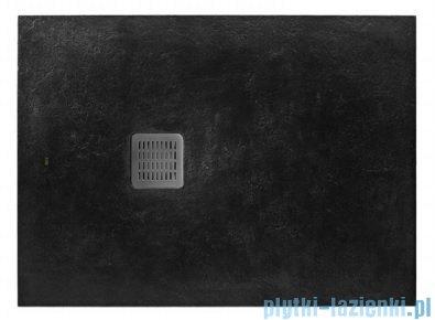Roca Terran 100x90cm brodzik prostokątny konglomeratowy czarny AP013E838401400
