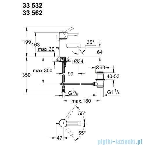 Grohe Essence bateria umywalkowa DN 15 z korkiem 33562000