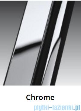 Novellini Drzwi do wnęki z elementem stałym GIADA G+F 126 cm lewe szkło przejrzyste profil chrom GIADNGF126S-1K