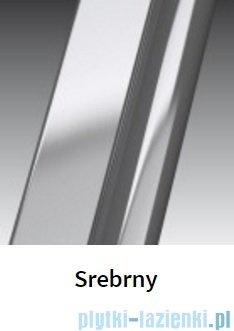 Novellini Drzwi do wnęki z elementem stałym GIADA G+F 144 cm lewe szkło przejrzyste profil srebrny GIADNGF144S-1B