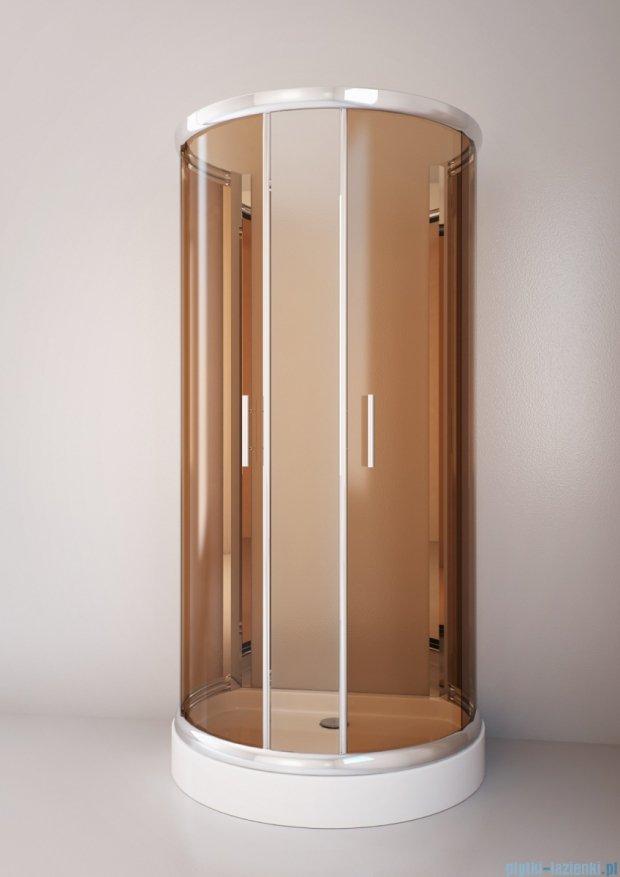 Sea Horse Sigma kabina  100x80 szkło: brązowe BK002/3/XB + Brodzik prysznicowy 100 x 80 cm  BKB022/X