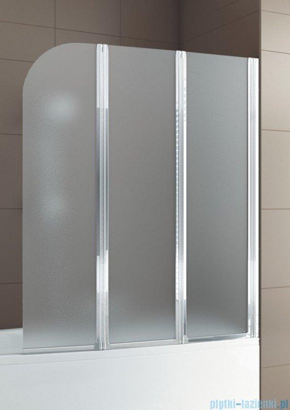 Aquaform Modern 3 Parawan nawannowy 120,5x140cm szkło satinato profil chrom 06979