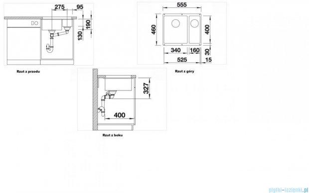 Blanco Subline 340/160-U zlewozmywak Silgranit PuraDur  kolor: kawowy  z k. aut.  515057