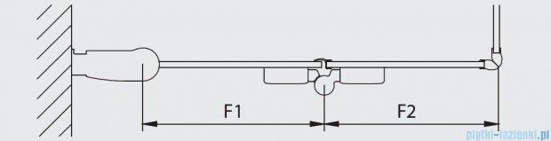Kermi Diga Wejście narożne,połowa kabiny, prawa, szkło przezroczyste, profile białe 90x200cm DI2CR090202AK
