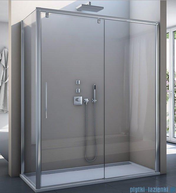 SanSwiss Pur Light S PLST Ścianka boczna 90cm profil biały szkło przejrzyste PLST0900407