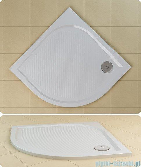 SanSwiss WMR Brodzik półokrągły konglomeratowy 100x100cm granit czarny WMR551000154