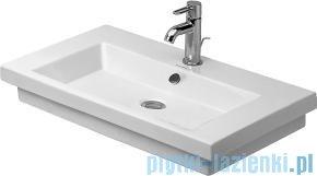 Duravit 2nd floor umywalka z przelewem z otworem na baterię 700x460 mm 049170 00 00