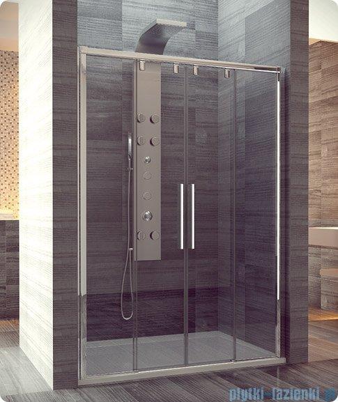 SanSwiss Pur Light S PLS4 Drzwi rozsuwane 150cm profil biały szkło przejrzyste PLS41500407