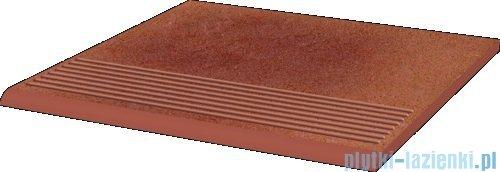 Paradyż Taurus rosa klinkier stopnica prosta 30x30