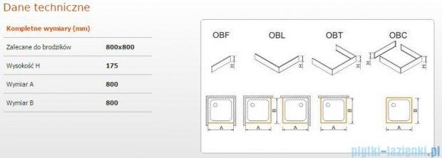 Sanplast Obudowa do brodzika OBL 80x80x17,5 cm 625-403-1020-01-000