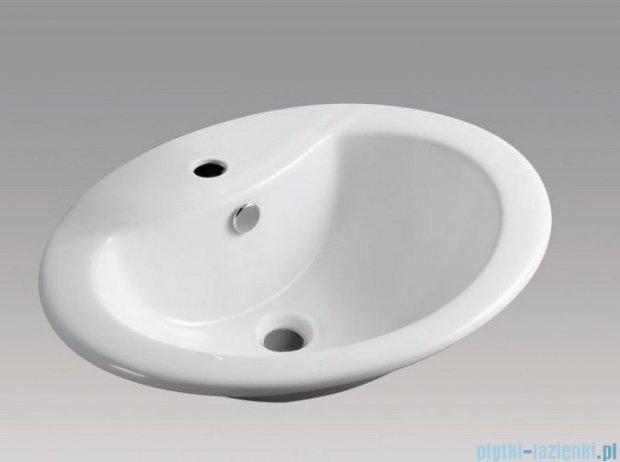 Alterna Perola Umywalka wpuszczana w blat biała 560x460x200 mm ALTN-995359