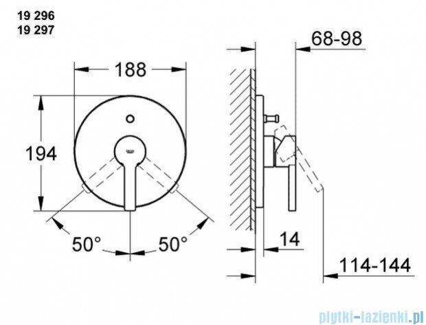 Grohe Lineare jednouchwytowa bateria wannowa  z przełącznikiem wanna/prysznic 19297000