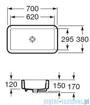 Roca Element Umywalka nablatowa 70x38cm biała A327572000