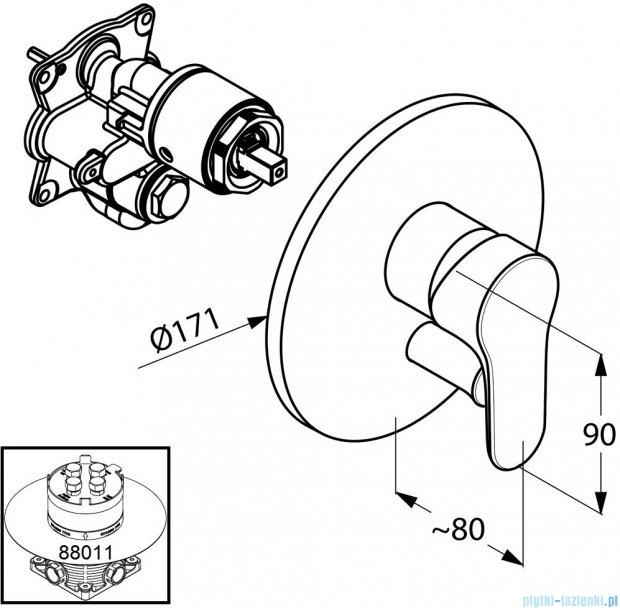 Kludi Objekta Podtynkowa bateria wannowo-natryskowa chrom 326500575