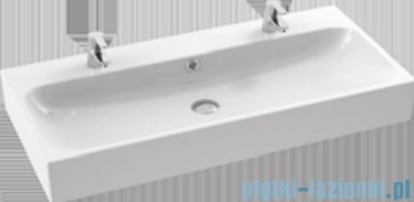 New Trendy Kubiko szafka wisząca podumywalkowa + umywalka 100 cm antracyt połysk ML-PI310
