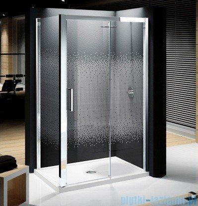 Novellini Elysium Kuadra 2P Drzwi przesuwne 108cm Prawe szkło przejrzyste profil chrom KUAD2P108D-1K