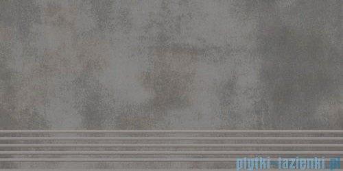 Paradyż Tecniq grafit półpoler stopnica 29,8x59,8
