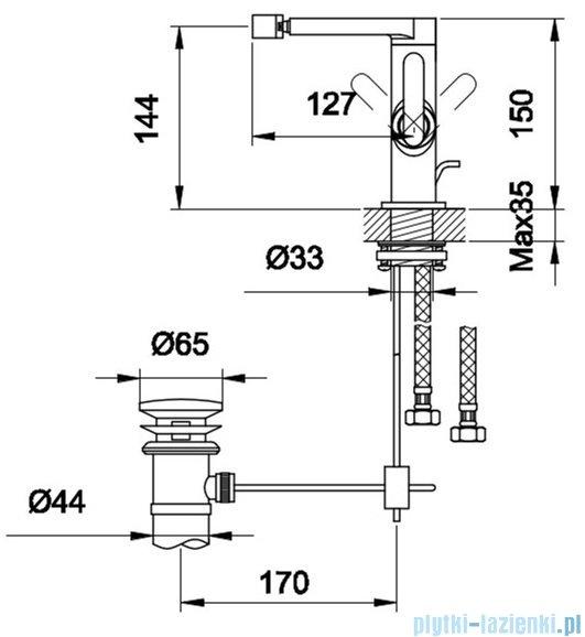 Kohlman Boxine bateria bidetowa chrom QB130B