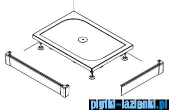 SanSwiss PWIL Obudowa brodzika 2-stronna 70x90cm czarny mat PWIL07009006