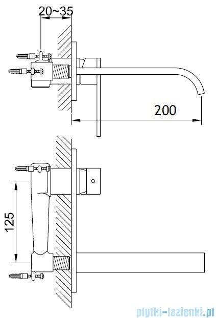 Kohlman Nexen-S Podtynkowa bateria umywalkowa SQW188U