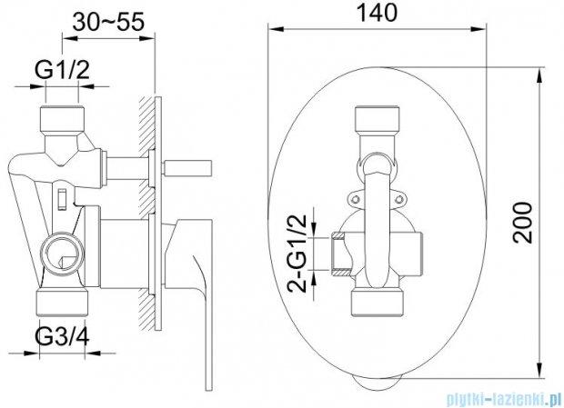 Kohlman Cexams zestaw prysznicowy chrom QW210CR20