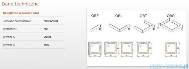 Sanplast Obudowa brodzika OBL 90x200x9 cm 625-400-1630-01-000