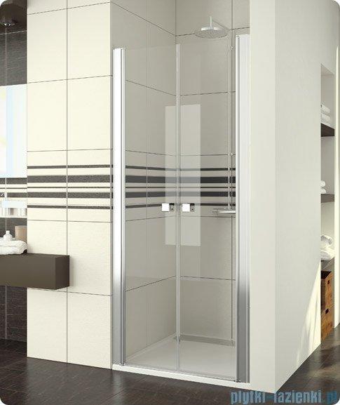 SanSwiss Swing Line SL2 Drzwi 2-częściowe 100cm profil biały SL210000407
