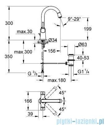 Grohe Grandera Bateria umywalkowa DN15 chrom/złoty 21107IG0