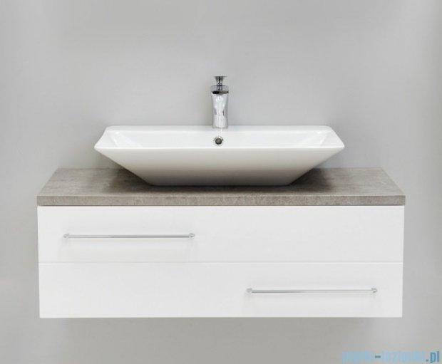Antado Susanne szafka z umywalką Conti biała/blat szary 95x46cm AS-140/95-WS+AS-B/4-140/95-74+UCT-TP-37x59