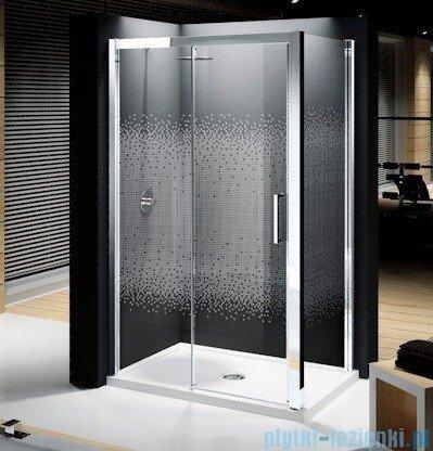 Novellini Elysium Kuadra 2P Drzwi przesuwne 138cm Lewe szkło przejrzyste profil chrom KUAD2P138S-1K
