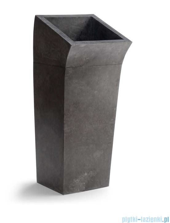 Bathco Lungo Square umywalka stojąca kamienna 41x48x100 black 00359