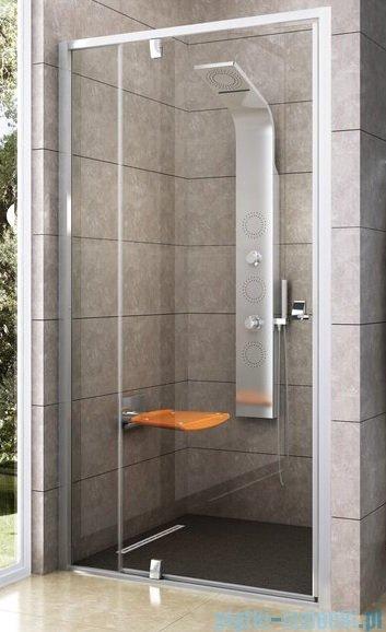 Ravak Drzwi prysznicowe obrotowe Pivot PDOP2-120 białe + chrom transparent 03GG0100Z1