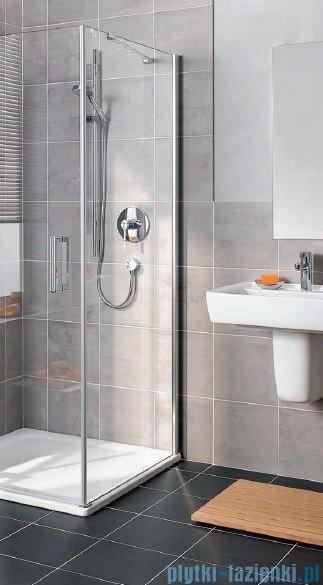 Kermi Gia XP Ściana boczna, prawa, szkło przezroczyste, profile srebro mat 100x185cm GXTWR100181AK
