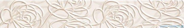 Tubądzin Wave modern white listwa ścienna 7,1x44,8