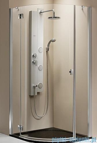 Radaway kabina Essenza PDJ 90x90 lewa szkło brązowe + brodzik Delos A + syfon