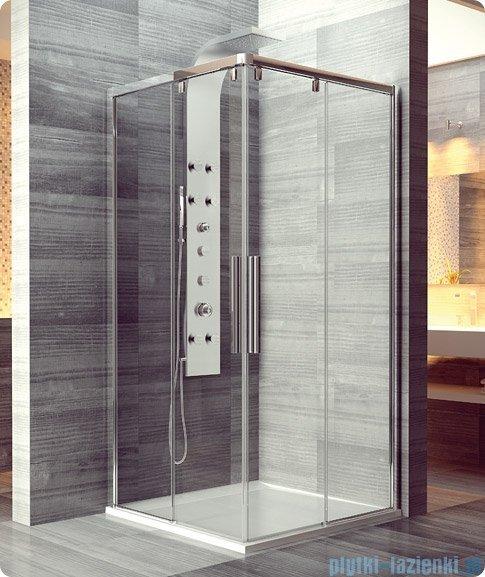 SanSwiss Pur Light S PLSE2 Drzwi narożne rozsuwane 70cm profil połysk szkło przejrzyste Lewe PLSE2G0705007