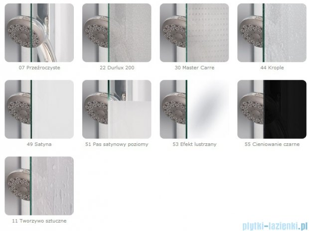 SanSwiss Pur PU13 Drzwi 1-częściowe wymiar specjalny profil chrom szkło Efekt lustrzany Prawe PU13DSM11053