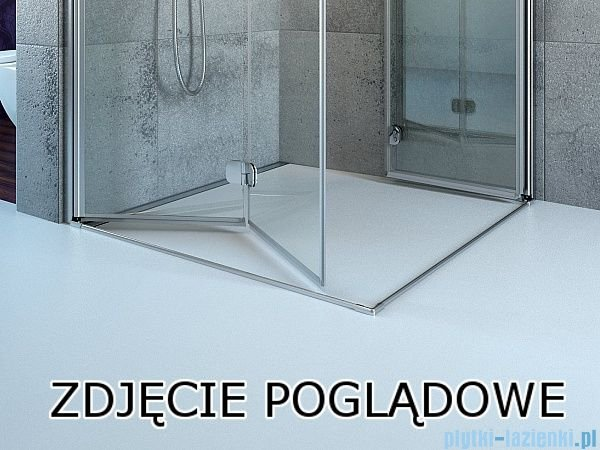 Radaway Fuenta New Kdj+S kabina 100x80x100cm lewa szkło przejrzyste 384021-01-01L/384052-01-01/384052-01-01