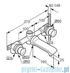 Kludi Joop Bateria umywalkowa ścienna DN 15 chrom 551460505