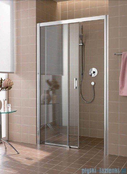 Kermi Atea Drzwi przesuwne bez progu, lewe, szkło przezroczyste KermiClean, profile srebrne 110x185 ATD2L11018VPK