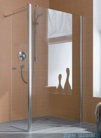 Kermi Atea Ściana boczna wolno stojąca z ruchomym skrzydłem, prawe, szkło przezroczyste, profile białe 100cm ATTFR100182AK