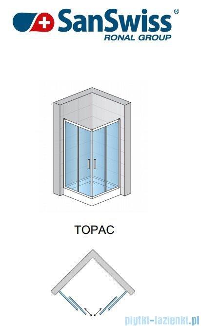 SanSwiss Top-Line TOPAC Wejście narożne 75cm profil połysk Lewe TOPG07505007