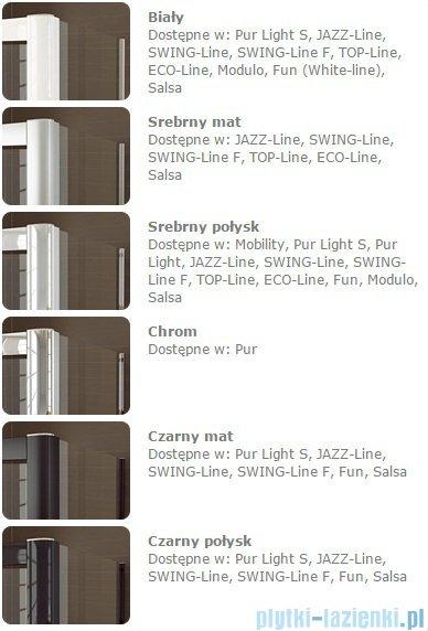 Sanswiss Melia ME31 Drzwi ze ścianką w linii prawe z uchwytami i profilem do 140cm przejrzyste ME31ADSM11007