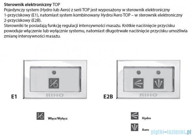 Riho Geta Wanna asymetryczna 170x90 prawa z hydromasażem TOP Hydro 6+4+2 BA88T2