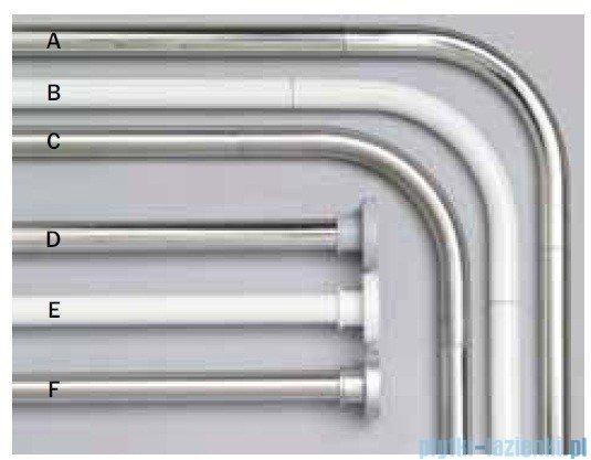 Sealskin Drążek prysznicowy Rod 3 Silver 155-255 cm aluminium biały 275550410