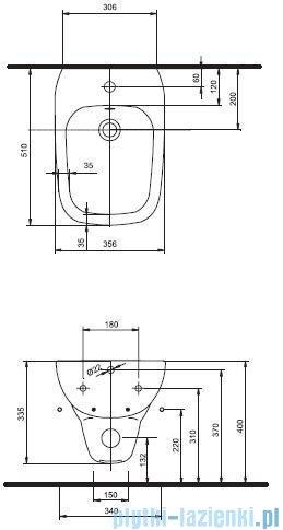 Koło Style Bidet wiszący z powłoką Reflex L25100900