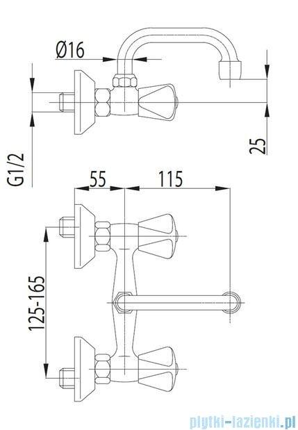 KFA STANDARD Bateria umywalkowa ścienna 300-110-00