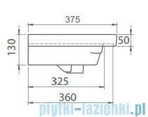 Cerastyle Noura umywalka 80x37,5cm meblowa / ścienna 033300-u